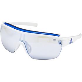 adidas Zonyk Aero Pro Cykelbriller L, white shiny/vario blue